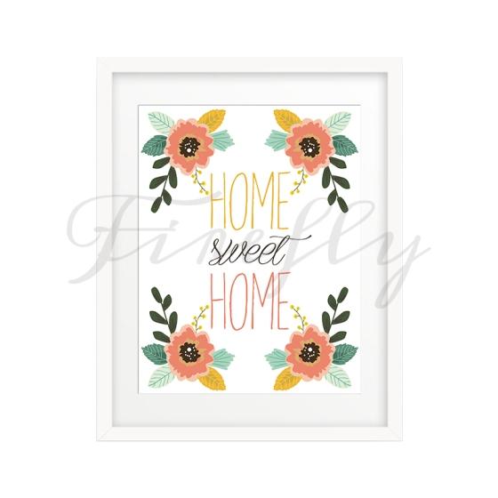 Home Sweet Home Wall Art nursery wall art |